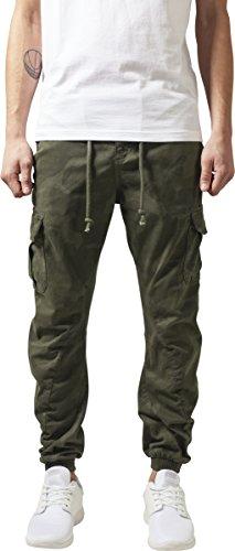 Urban Classics Camo Cargo Jogging Pants Pantalons, Camouflage Olive, 32W x 30L Homme