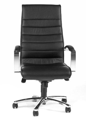 Topstar fauteuil de chef 'TD Luxe 10', cuir, noir