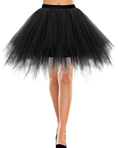 Bbonlinedress Ballet Tutu en Tulle Jupe Courte Style années 50s Black S