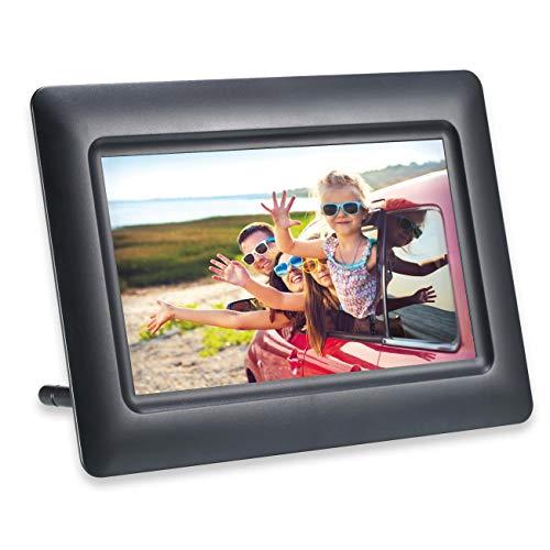 AGFA Photo Realiview APF700 – Cadre Photo Numérique 7 Pouces (LED 1024 x 600, Affichage Photo, Horloge, Calendrier, Programmable) Noir