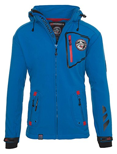 Geographical Norway TACEBOOK - Veste Softshell Homme Impermeable - Manteau à Capuche Outdoor -...