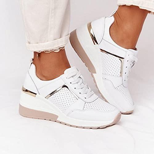 Chaussures de marche pour femmes Every-Go Plateforme Talon compensé Chaussures de tennis en maille respirante prix et achat