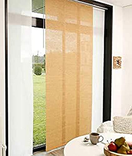 MADECOSTORE Panneau Japonais Tamisant Paille Tissée - Paille - L45 x H280cm