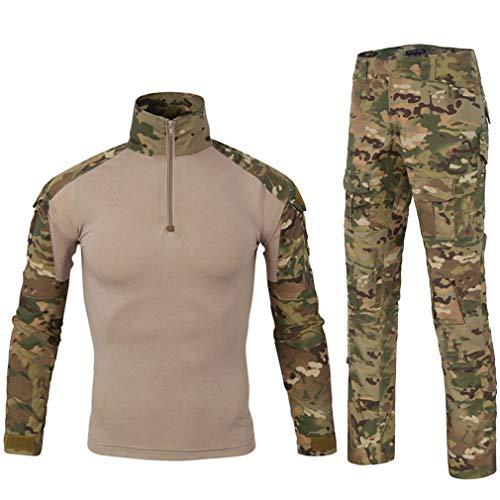 LANBAOSI Chemise de Combat Militaire Homme Uniforme Tactique Séchage Rapide à Manches Longues & Pantalon Costume Tenues de Combat Pantalon Militaire Paintball MC Large prix et achat