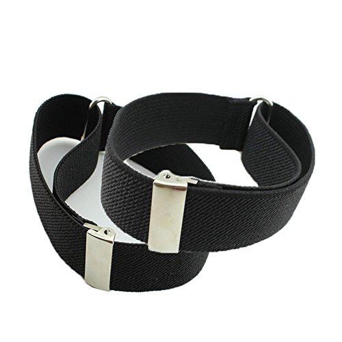 Habi - 1paire de brassards de chemise élastiques et réglables - Pour homme - Noir - Taille Unique