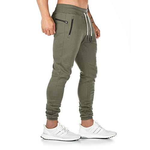 Yageshark Pantalon de Jogging Homme Coton Mode Training Pantalon de Survêtement Taille...