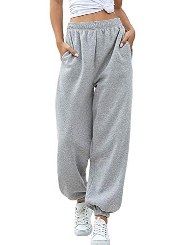 Minetom Pantalon de Jogging Femmes Pantalons de Survêtement Long pour Running Fitness Training...
