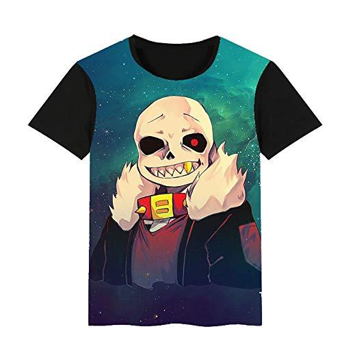 Undertale Sacs à Dos Doux T-Shirt Respirant à Manches Courtes col Rond en Vrac Loisirs...