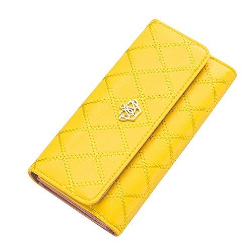 Natural Homme Portefeuille couronne pour femme, mignon cuir PU élégant - beige - jaune, prix et achat