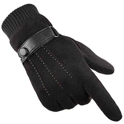 Gants Hiver chaud écran tactile pour homme femme thermiques en suede doublure polaire mitaines...