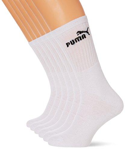 Puma - Chaussettes de Sport - Lot de 6 - Homme, Blanc (White), 39-42 EU