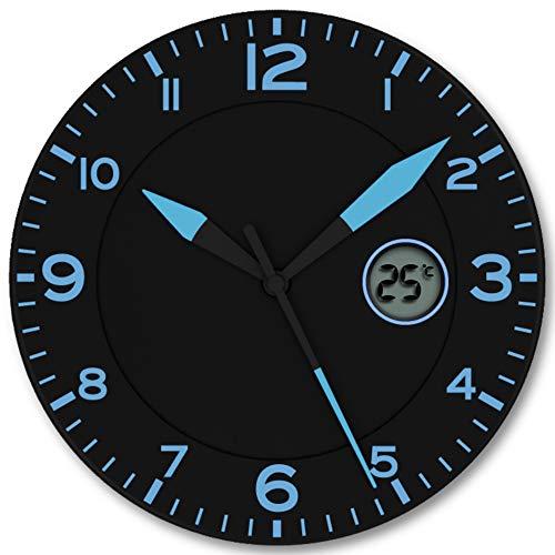 FISHTEC ® Horloge Murale Design Moderne - Pendule avec...