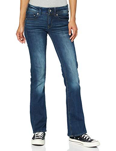G-Star Midge Saddle Mid Waist Bootcut Jeans, Bleu (DK Aged 6553-89), 30W / 30L Femme