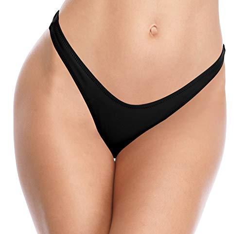 SHEKINI Femme Maillot de Bain Bikini Brésilien Bas de Bikini Thong Swim Trunks Taille Basse...