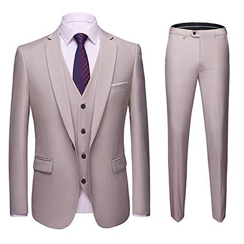 Costume Homme 3 Pcs Veste Gilet et Pantalon Mariage Party Smoking