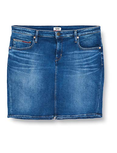 Tommy Jeans Classic Skirt Mnm Jupe, Bleu (Denim A), 85 (Taille Fabricant: NI32) Femme