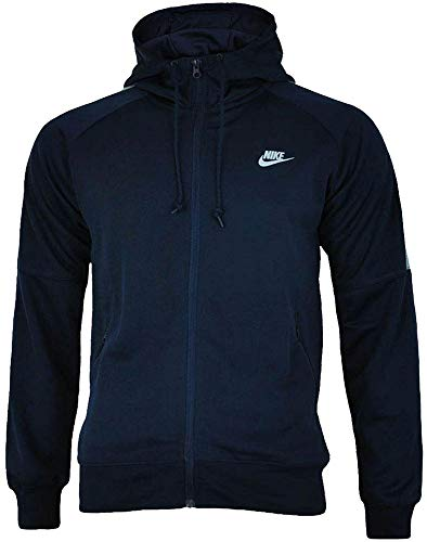 Nike Tribute Hooded Track Jacket Homme Jacket à Capuche Hoody Navy/Gris, Dimension:S