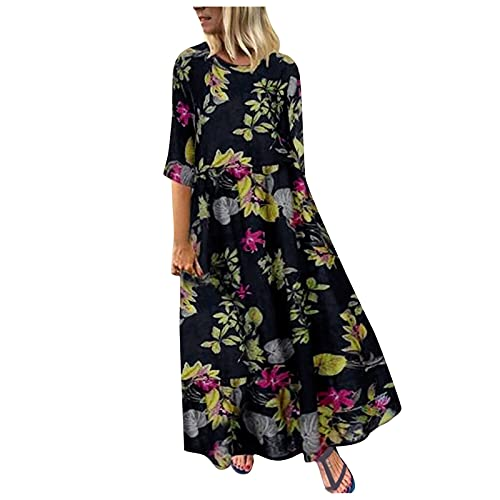 Generic Robe Longue Femme De Boheme Manche Courte Chic Maxi Robe Été Femme Grande Taille Robe De Plage Casual Robe de Soiree Robe de Cocktail prix et achat