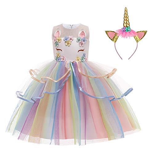 LZH Robe de Soirée Licorne Mariage Cosplay Princesse Robe de Fête Anniversaire