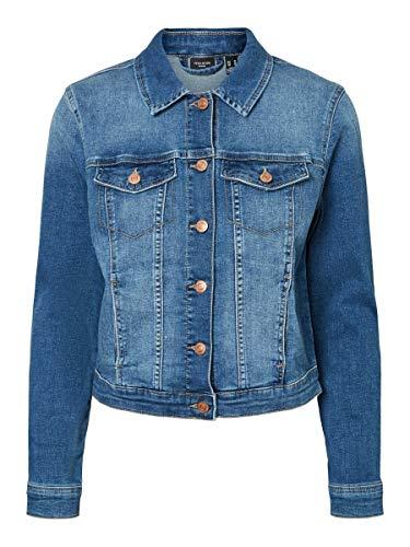 Vero Moda Vmtine Ls Slim Jacket Mix GA Noos Blouson en Jean, Denim Bleu Médium, S Femme prix et achat
