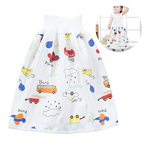 Jupe de couches pour bébé, jupe d'entrainement pour bébé, short pour bébé, short pour bébé, jupe de couches confortable, 2 en 1 imperméable et absorbant, taille M