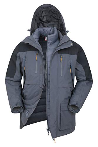 Mountain Warehouse Doudoune 3 en 1 Correspondent Homme - Manteau d'hiver rembourré,...