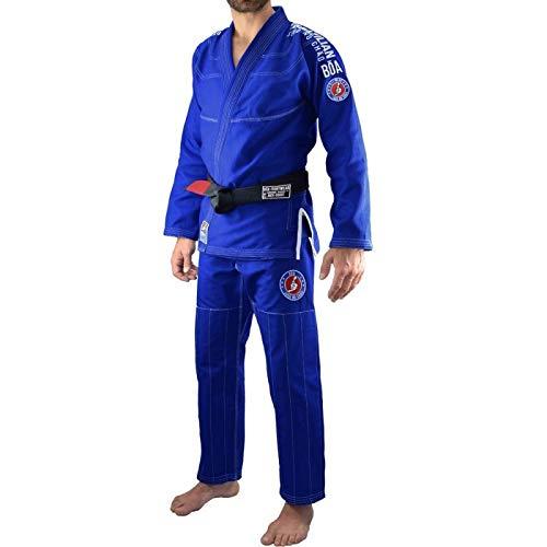 Bõa Jogo No Chao 3.0 Kimono jjb BJJ Gi Homme, Bleu, A0