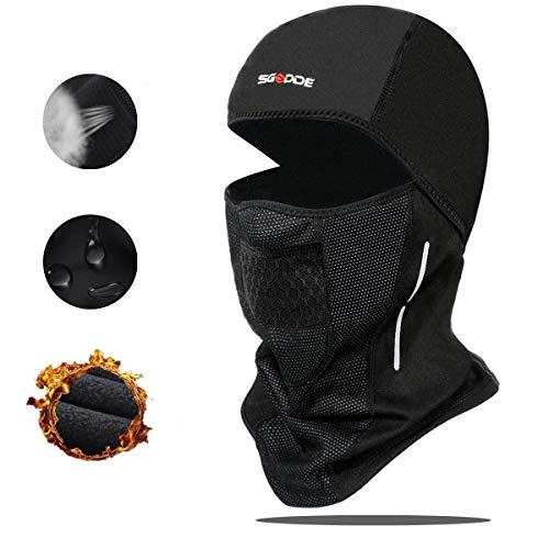 SGODDE Cagoule Moto Homme, Cagoule Velo Hiver Balaclava Masque de Ski Balaclava...