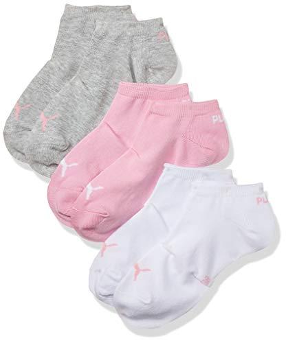 Puma - PUMA UNISEX SNEAKER PLAIN 3P -Lot de 3 - Chaussettes de sport - Homme - Rose/Blanc/Gris - 35-38