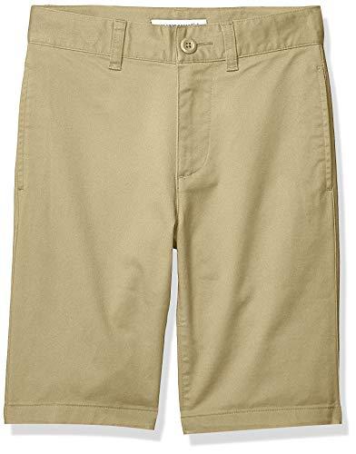 Amazon Essentials Short chino, avant plat, de style uniforme, pour garçons, Beige (kaki), US 8...
