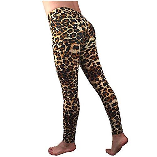 2020 Leggings de Sport Femmes Pantalon de Yoga Leggins avec Poches Yoga Fitness Gym Pilates Taille Haute Gaine Pantalon de Yoga Léopard YUYOUG