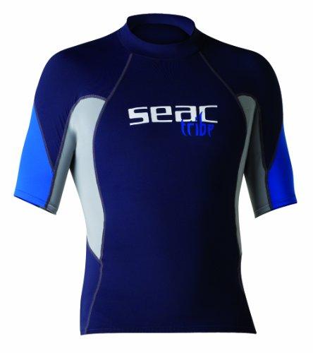 Gilet de protection Rash Guard Seac RAA Long Evo Man anti UV pour l' apnée et la natation.