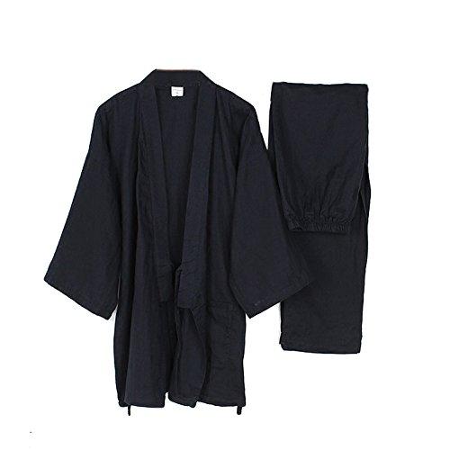 Fancy Pumpkin Robes de Style Japonais pour Hommes en Vrac Pur Coton Kimono Pyjamas...