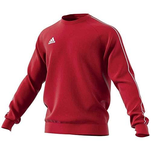 adidas Core 18 Sweat-Shirt Homme, Rouge Puissance/Blanc, S