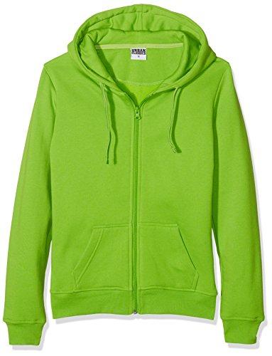Urban Classics Ladies Zip Hoody Sweat-Shirt àCapuche, Vert (Vert Citron 146), S Femme