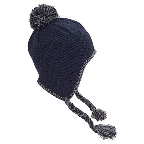 Beechfield - Bonnet péruvien - Adulte unisexe (Taille unique) (Bleu marine/Gris clair) prix et achat