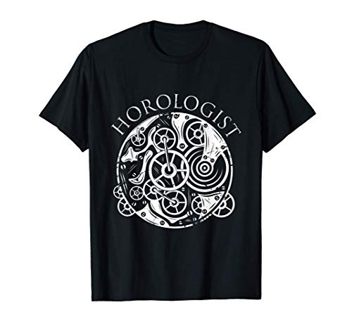 Horloger mesure du temps Watch Expert Clock Maker T-Shirt