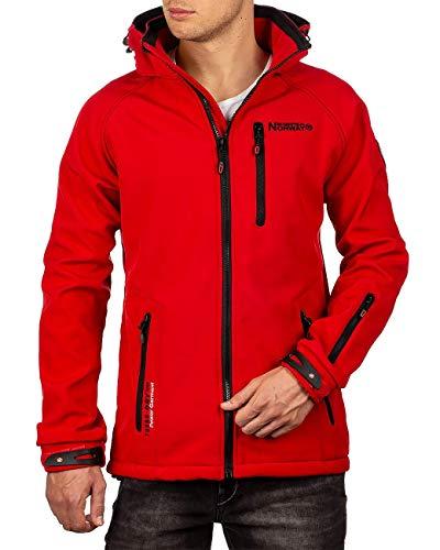 Geographical Norway Bans Production Veste Softshell pour homme avec capuche amovible - Rouge -...