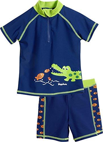 Playshoes UV-Schutz Bade-Set Krokodil Boxer, Bleu (Marine 11), 86 (Taille fabricant: 86/92) Bébé garçon