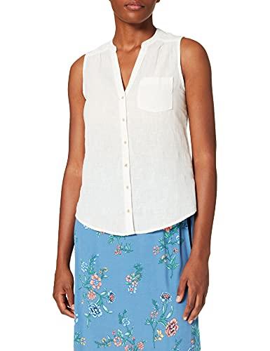 Springfield Camisa Lino Sin Mangas Chemise, Blanc Ivoire, 42 Femme