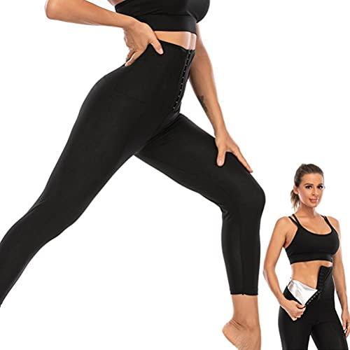Pantalon de Sudation Femme, Taille Haute Legging Amincissant, Collants Élastique Compression Legging en Pantalon de Perte de Poids Pantalon de Sauna