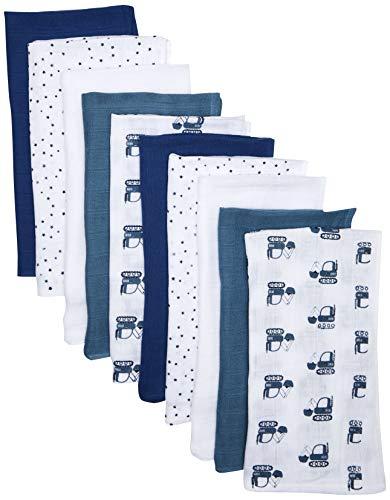 Care 550286 Cache-nez, Multicolore (Bleu foncé), Taille Unique, Lot de 10