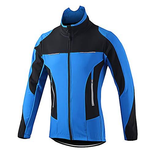 Veste Cycliste Homme Hiver VTT Velo Blouson Chaud Imperméable Thermique Réfléchissant Chaud...