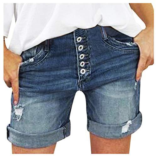WINJIN Short Jean Femme Short Casual Mode Bermuda Chic Ete Pantalon Court Denim Déchirés...