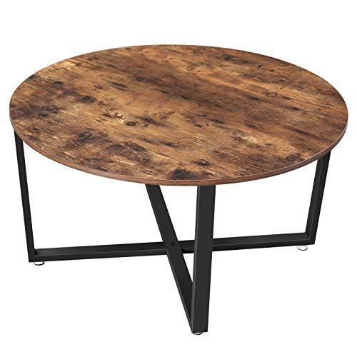 VASAGLE Table Basse Ronde, Table de Salon, Style Industriel,...