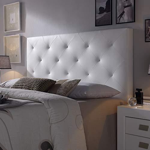 marcKonfort Tête de lit Rombo 140x60 cm Blanc, rembourrée de...