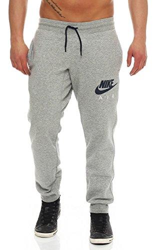 Nike Pantalon Bouffant AW77Polaire Air Heritage Taille L Gris - Dunkelgrau Heidekraut/Obsidian/Weiß