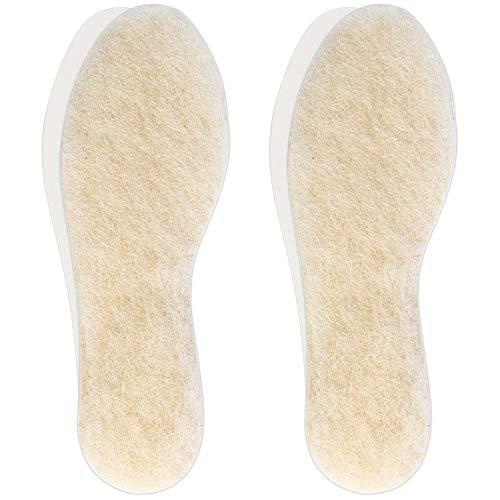 Hey Nature 2 paires, Semelles à base de laine d'agneau, semelles chaussures extra épaisse en laine de mouton. Semelles chauffantes naturelles plus efficaces que semelles thermiques. Découper à taille prix et achat