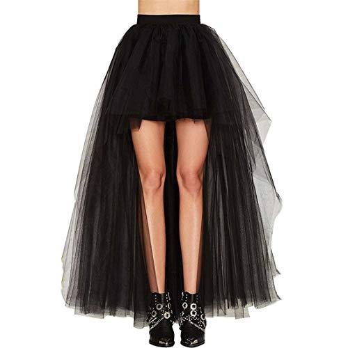 ZHER-LU Jupe en tulle à queue d'aronde pour femme - Sexy - Longue et moelleuse - Tutu - Robe de mariage - Noir - Taille unique prix et achat