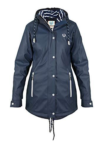 MADSea Rain Manteau de Pluie Femme PU Navy, Taille:38, Couleur:Bleu Marine